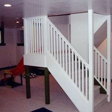 Contemporary Basement by Seattle HomeWork
