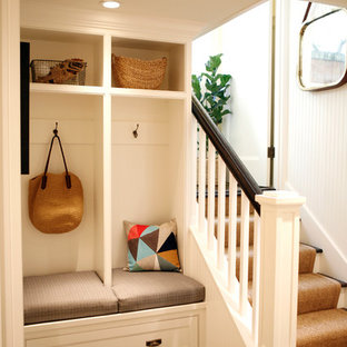 Inspiration for an eclectic basement remodel in Seattle