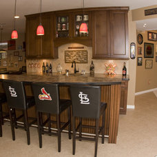 Traditional Basement by J.T. McDermott Remodeling