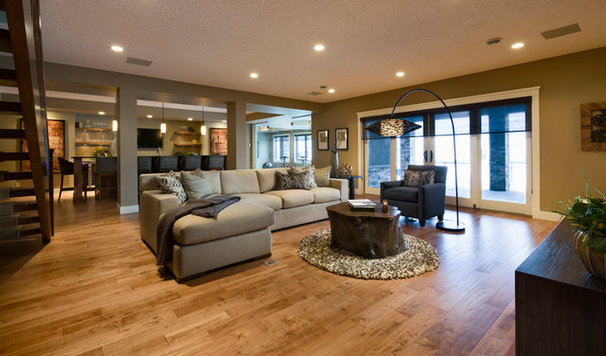 Contemporary Basement by Albi Homes