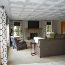 Traditional Basement by Natalie Kirkpatrick Design, LLC