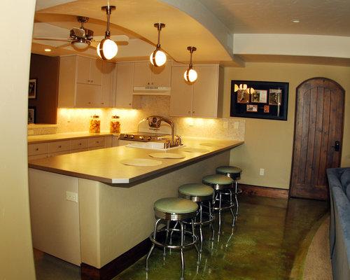 4 mediterranean basement with concrete floors design ideas for Mediterranean house plans with basement