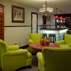 Eclectic Basement by Maria K. Bevill Interior Design