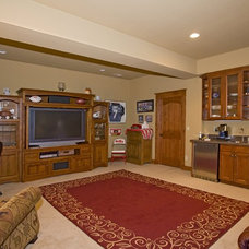 Craftsman Basement by Erin Johnson Interiors, LLC