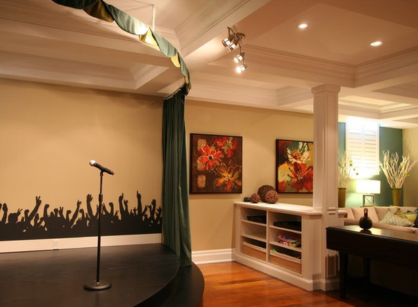 Traditional Basement by Interior Works Inc