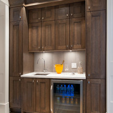 Traditional Basement by Old World Kitchens & Custom Cabinets