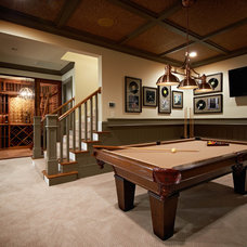 Traditional Basement by Carolina Design Associates, LLC