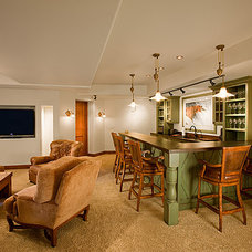Traditional Basement by Key Elements Construction