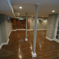 contemporary basement by Wyanoke Builders