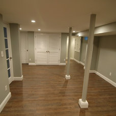 Traditional Basement by Wyanoke Builders
