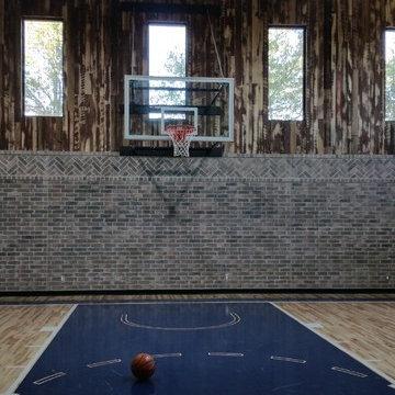 Cernicky basement w/ half basketball court; golf simulater room; bar; half bath
