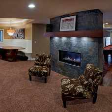 Modern Basement by Sebring Services