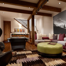 Rustic Basement by Abby Hetherington Interiors