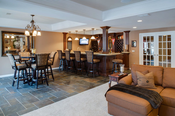 Traditional Basement by Emery Design & Woodwork