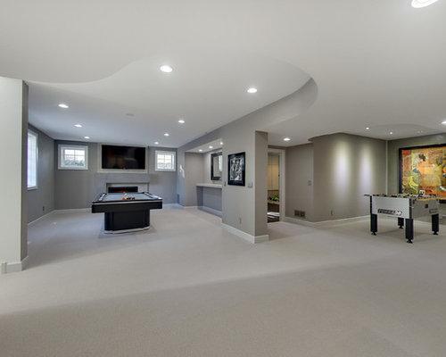 keller mit kaminsims aus beton ideen design bilder houzz. Black Bedroom Furniture Sets. Home Design Ideas