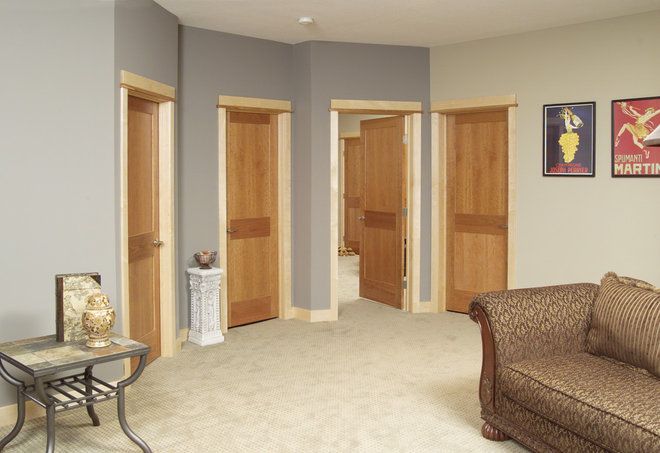 Traditional Basement by Stallion Doors and Millwork
