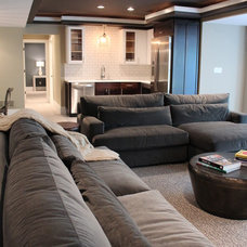 Transitional Basement by Cure Design Group