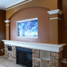 Traditional Basement by Lou Vaughn Remodeling