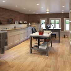 Transitional Basement by Chr DAUER Architects
