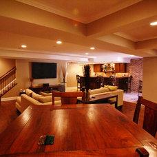Traditional Basement by Matthew Bowe Design Build, LLC