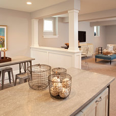 Beach Style Basement by REFINED LLC