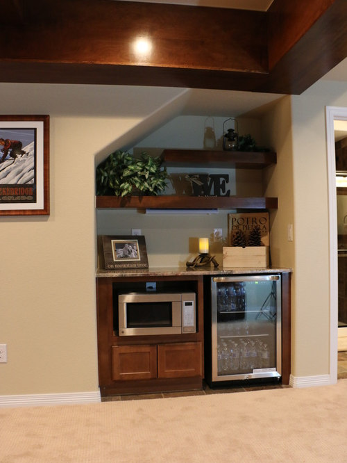 Basement Stair Ideas For Small Spaces: Wet Bar Under Stairs