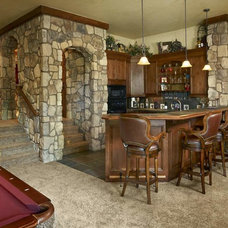 Rustic Basement by Gayle Berkey Architects