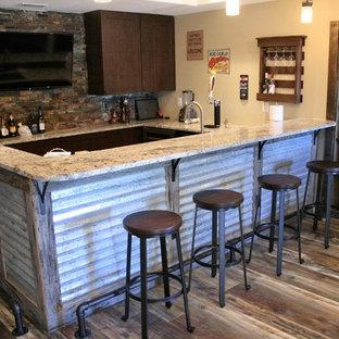 Basement - transitional basement idea in Denver