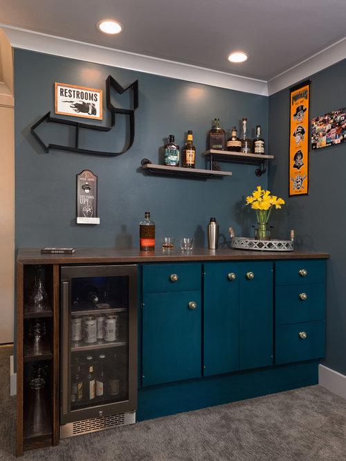 photos et id es d co de sous sols clectiques. Black Bedroom Furniture Sets. Home Design Ideas