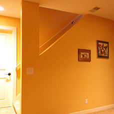 Traditional Basement by Morris Builders, Inc