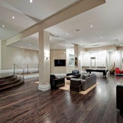 contemporary basement by SCS Home Entertainment