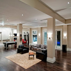 Contemporary Basement by D3 Smart Homes