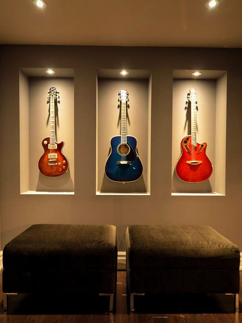 Guitar Storage Home Design Ideas, Pictures, Remodel and Decor