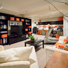 Contemporary Basement by Best Home Renovations
