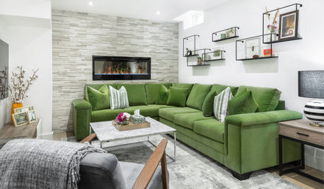 A Light, Bright Basement Inspired by Midcentury Design
