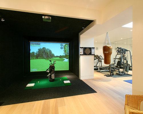 Golf simulator ideas pictures remodel and decor for Indoor golf design