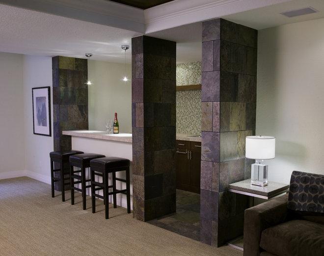 Modern Basement by Krause Construction Denver Colorado
