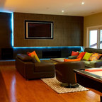 Man Cave 2 Contemporary Basement Tampa By Kds