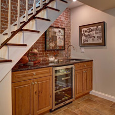 Contemporary Basement by The Repurposed Home