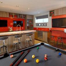 Contemporary Basement by Boss Design Ltd