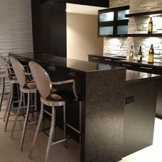 Contemporary Basement by Millennium Cabinetry