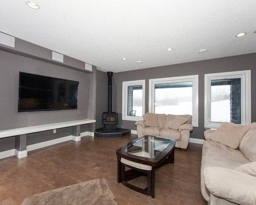 moderne keller mit korkboden ideen design bilder houzz. Black Bedroom Furniture Sets. Home Design Ideas