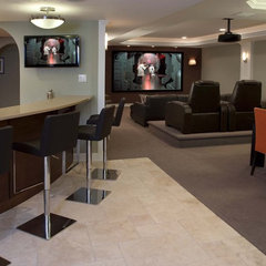 contemporary basement by Stone-Glidden, Inc