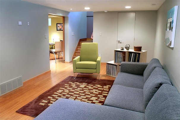 Contemporary Basement by Renovation Design Group