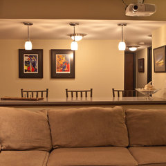 contemporary basement by White Crane Construction