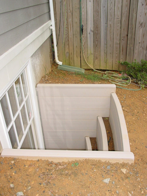 Basement egress houzz for Walkout basement windows