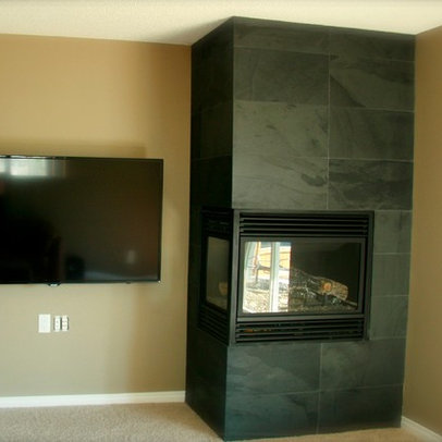 STANDOUT CORNER FIREPLACE DESIGNS !