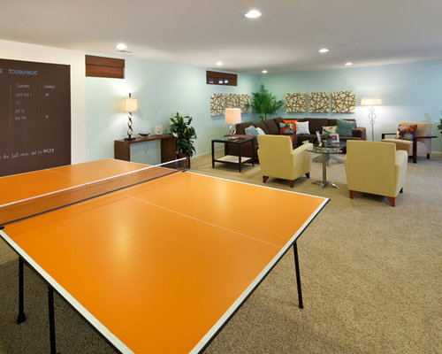 glass ping pong table home design ideas pictures remodel and decor. Black Bedroom Furniture Sets. Home Design Ideas
