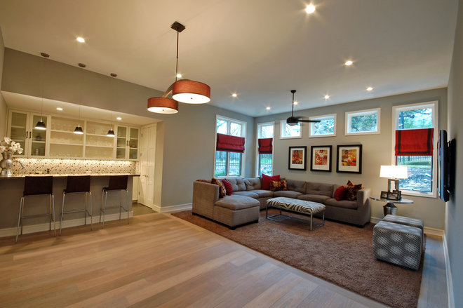 Contemporary Basement by Cornerstone Architects
