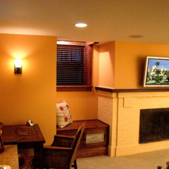 traditional basement by Home Restoration Services, Inc.